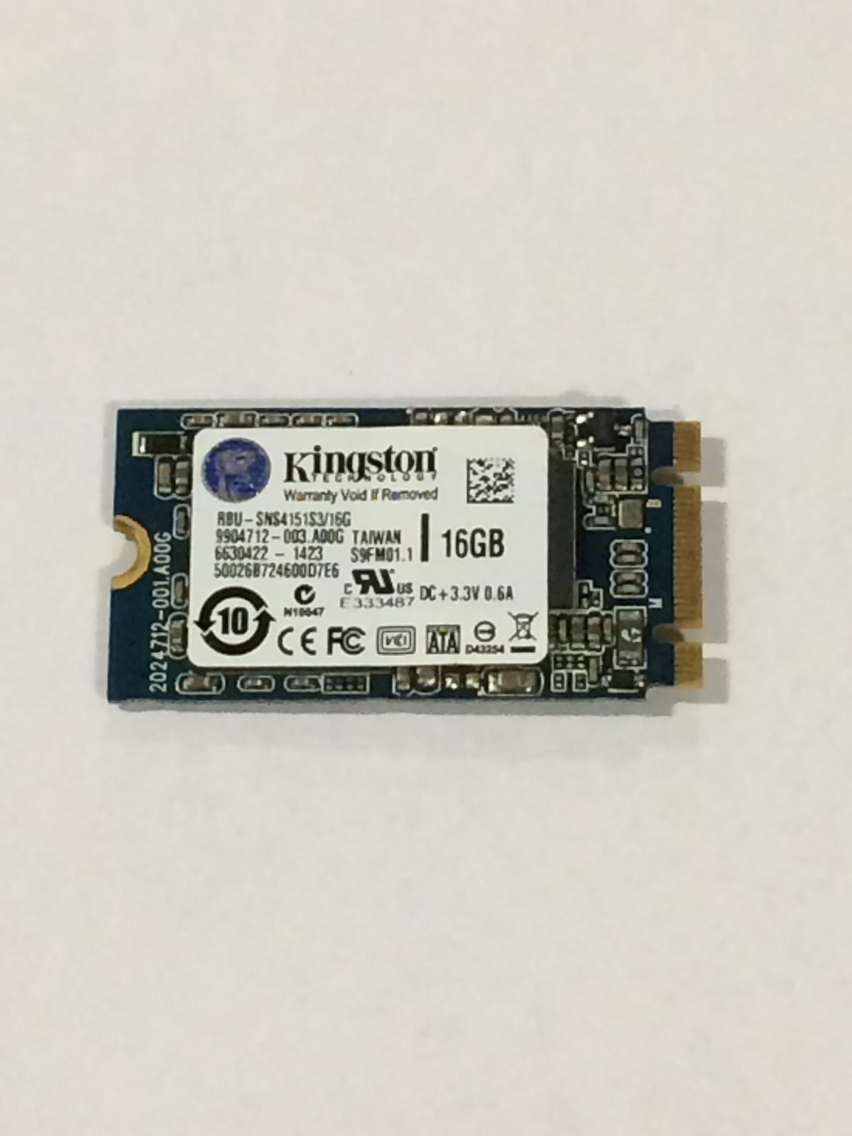 Kingston 16GB  M.2 NGFF 2242 42mm SSD  SNS415S3//16GD  Solid State Drive